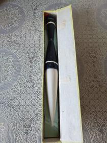 老毛笔 原套京楂斗笔(出锋10.5cm、直径2.6)牛角整杆