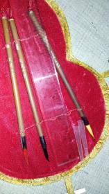 回流老文房  笔 墨 砚 印石 印泥 ……七件套大盒葫芦型