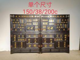 历史文件书籍藏柜一对,分体式,易搬放,重量足,品相完好尺寸见图