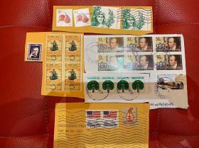 美国新加坡邮票