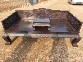 古董传世老家具清代小叶紫檀罗汉床古典老物件