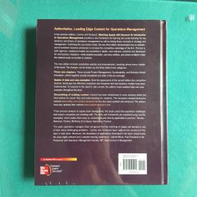 Matching Supply with Demand:An Introduction to Operations Management (塑封95品)