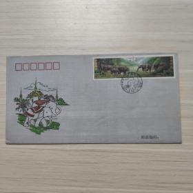 信封:中泰建交二十周年  丝绢 首日封 -纪念封/首日封