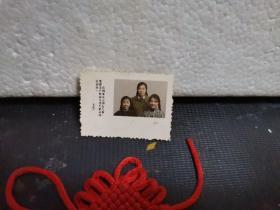 老彩色照片:带毛主席语录(你们要关心国家大事,要把无产阶级文化大革命进行到底)彩色三姐妹照