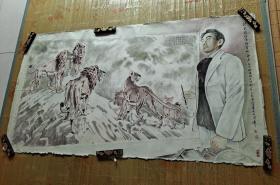 舒万众信念约会师东京纪念徐悲鸿先生创作二战预言画七十周年(傅绍贤绘约18平尺)