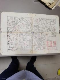 上海市交通图1962年制(8开)