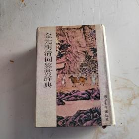 金元明清词鉴赏辞典(实物拍照)