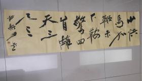 赵新月(特型演员)毛体书法(毛主席诗一首)