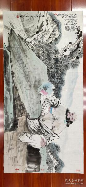 【马奉信】精品人物画《旷怀图》一幅,四尺整纸,68厘米//136厘米,喜欢的私聊