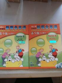 新概念英语-学生用书、练习册青少版(入门级B)2本合售附光盘