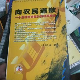 向农民道歉:一个县委组织部长的驻村手记