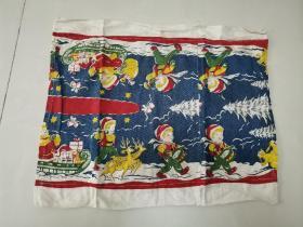 80年代自制棉枕巾一只45X40