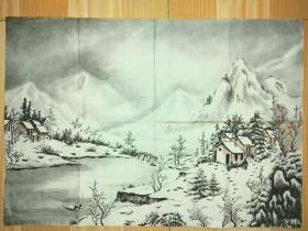 雪景图,几十年的老作品。名家之作