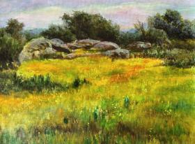 油画《田园风景》
