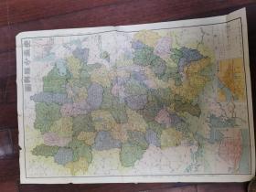 1947年彩印《安徽分县详图》