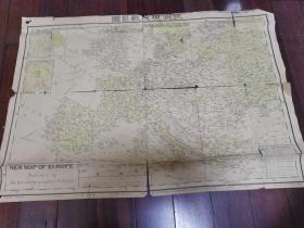 1939年彩印《欧洲现代战区图》