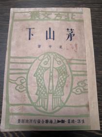 393民国新文学 东平 茅山下 生活.读书.新知联合发行所1949年8月沪初版