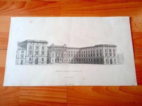 1881年大幅钢版画《中世纪建筑瑰宝:柯尼斯堡城堡》(Konigl Regierungsgebaude zu Konigsberg)-- 柯尼斯堡城堡曾经是德意志条顿骑士团大团长和普鲁士公爵的府邸,被称为皇家城堡;城堡于1255年由当时的捷克国王普热米斯尔·奥拓卡二世修建,它和柯尼斯堡大教堂一同被认为是城市最古老、最重要的地标性建筑;柯尼斯堡城堡于19世纪成为政府大厦 -- 版画纸张45*26厘米