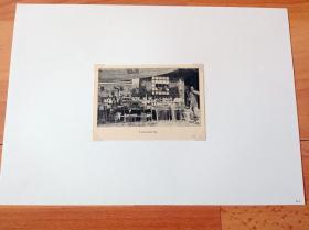 1913年书页照片《北京天桥的玩偶店》(LEKSAKSBUTIK)-- 选自《中国民国开端》-- 后附卡纸30*21厘米,照片尺寸11.5*8厘米