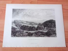【透纳】1880年钢版画《风景画:风景如画的希思菲尔德山谷》(THE VALE OF HEATHFIELD)-- 出自西方艺术史最杰出的风景画家,威廉·透纳(William Turner)的油画,藏于英国泰特美术馆 -- 该幅油画中,透纳描绘了英格兰赫特福德郡的希思菲尔德山谷,和森林环绕的希思菲尔德庄园,画作深刻地刻画了英伦的田园风光 -- 选自透纳画廊 -- 版画36*27厘米