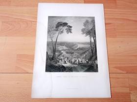 """【透纳】1880年钢版画《海神祭日:芙丽涅扮作维纳斯,步入海中沐浴》(PHRYNE GOING TO THE BATH AS VENUS)-- 出自西方艺术史最杰出的风景画家,威廉·透纳(William Turner)作于1838年的油画 -- 据传芙丽涅是雅典最美的女人,历史上流传着很多关于她的趣闻逸话,最著名的莫过于她给画家做""""女神维纳斯""""的裸模 -- 选自透纳画廊 -- 版画36*27厘米"""