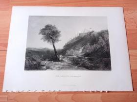 【透纳】1880年钢版画《风景画:洛雷托风光,圣母之家与意大利石松》(THE LORETTO NECKLACE)-- 出自西方艺术史最杰出的风景画家,威廉·透纳(William Turner)油画 -- 洛雷托是位于意大利中部马儿凯大区的古城,也是宗教圣城,洛雷托的Virgin之家是纪念Virgin的重要朝圣地,该朝圣地保存着纳匝勒Virgin的故居 -- 选自透纳画廊 -- 版画36*27厘米
