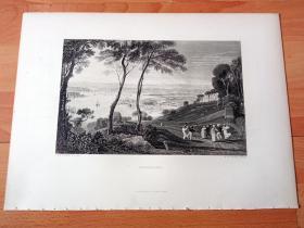 【透纳】1880年钢版画《风景画:英国皇家海军的摇篮,德文港海军基地》(DEVONPORT)-- 出自西方艺术史最杰出的风景画家,威廉·透纳(William Turner)的油画作品 -- 德文港位于英格兰西南部德文郡的普利茅斯,濒英吉利海峡,德文港自17世纪起成为英国皇家海军的海军基地;同时德文港是欧洲最大的造船厂:德文港皇家海军船厂所在地,声名显赫 -- 选自透纳画廊-- 版画36*27厘米