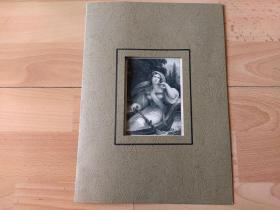 1836年钢版画《丽人画廊:怀春少女》(Louise)-- 出自19世纪著名奥地利女性肖像画家,约翰·内波穆克·安德(Johann Nepomuk Ender,1793–1854)的油画作品 -- 雕刻师:Franz Xaver Stoder(1795-1858)-- 德国莱比锡丽人画廊出版 -- 卡纸画框30*23厘米,版画纸张20*12.5厘米