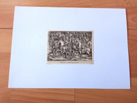19世纪木刻版画《鲁昂市政厅浅浮雕:金缕地会盟》(Francis I and Henry VIII on the Field of the Cloth of Gold)--