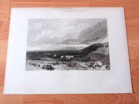 【透纳】1880年钢版画《泰晤士河入海口:惠特斯特布尔港》(WHITSTABLE)-- 出自英国浪漫主义画家,西方艺术史最杰出的风景画家,威廉·透纳(William Turner,1775-1851)作于1824年的水彩画,藏于英国泰特美术馆 -- 惠特斯特布尔位于英格兰肯特郡东北部,北临泰晤士河口的南岸,东濒北海的西南侧,隔多佛尔海峡与法国隔海相望 -- 选自透纳画廊 -- 版画36*27厘米