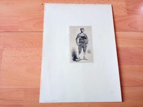 1890年铜版蚀刻《西班牙民族史:阿拉贡人》(Tipos Espanoles,El Aragones)-- 阿拉贡人是位于西班牙东北部,与法国接壤地区的古老民族 -- 西班牙历史出版社出版发行 -- 后附纸张36*25.5厘米,版画纸张14*8.5厘米