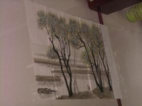 保真手绘精彩绘画一张----春晓、俩人树林等等风景画