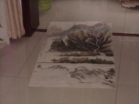 保真手绘精彩绘画一张----风景非常不错、长瀑布