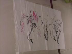 保真手绘精彩绘画一张----顺势得、花卉等等