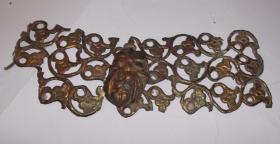 古代铜鎏金摆件