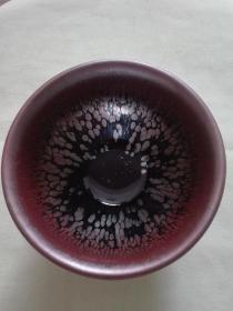 建盏茶杯 油滴,窑变,每一只都是独一无二的,养出七彩,加倍回购