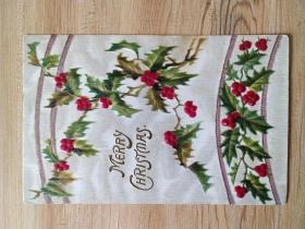 《外国集邮品收藏保真:美国1918年左右植物花卉早期凸版布纹明信片 》澜2107-14