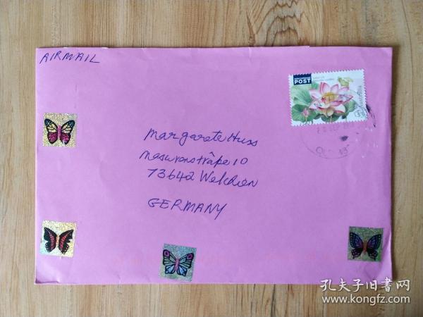 《外国集邮品收藏保真:外国2010年植物花卉荷花邮票首日封 》澜2107-14