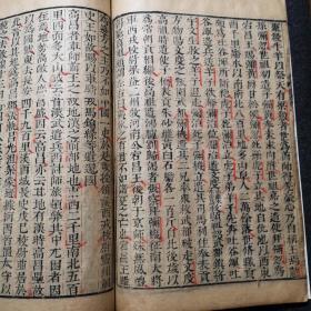 明汲古閣《魏書》列傳,少數民族內容,精美朱筆圈點句讀,書口有汲古閣字樣。