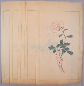 民国时期 精制 花笺纸一组五张 HXTX325378