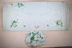 佚名 1979年作 《仙香花》被面原稿2幅一组(最大尺寸:87*200cm,最小尺寸49*60cm)HXTX331636