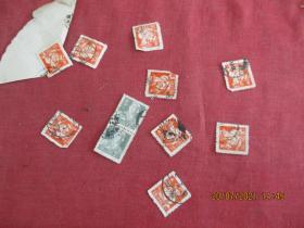 50年代老邮票8张合拍,品以图为准。