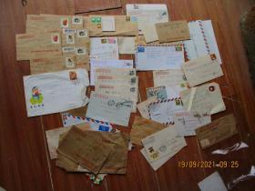 集邮爱好者收藏老信封一堆合拍,品好如图(20210919002)