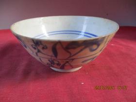 清朝瓷器,瓷碗一件,圓形,直徑14cm,高6.8cm,品好如圖。