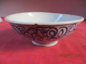 清朝瓷器,瓷碗一件,圓形,直徑14cm,高5.5cm,品好如圖。