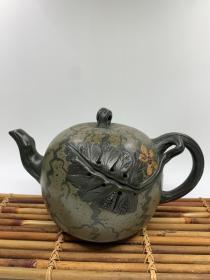 精品紫砂壶,材质:绿泥,容量:约480cc左右