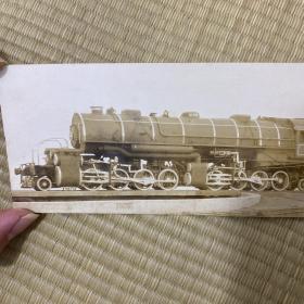 1921年 京绥铁路用蒸汽机车 蛋白照 民国 老照片 火车 铁路