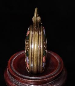 全自动机械双开铜怀表,能正常使用