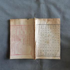 清木刻朱墨套印历书资料古籍  大清光緒二十四年歲次戊戌時憲書 一册