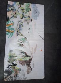 一幅画。。。。长140厘米,宽70厘米。。。画的很好。